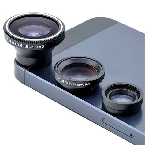 Fish Eye 3in1 Universal Lens 3 in 1 universal clip on smartphone fish eye macro