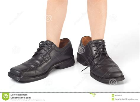 shoes for with big big shoes to fill stock image image of leather shoes