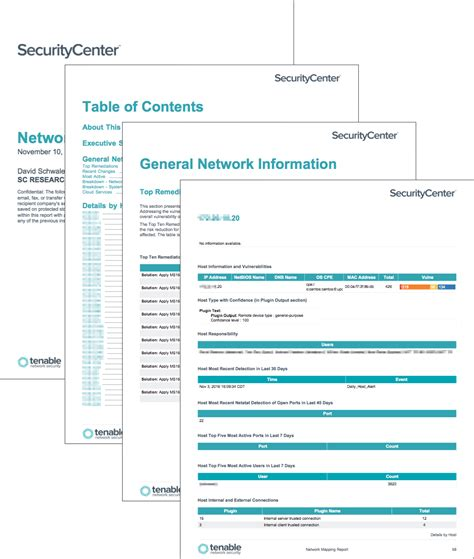 network security report template network mapping report sc report template tenable