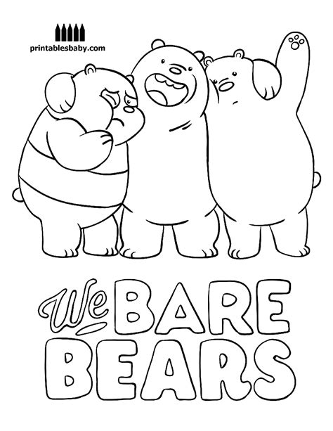 We Bare Bears Coloring Pages we bare bears printables baby free coloring