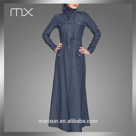 Quality Yonna Set Fashion Muslim dubai design denim wear jilbab abayas malaysia