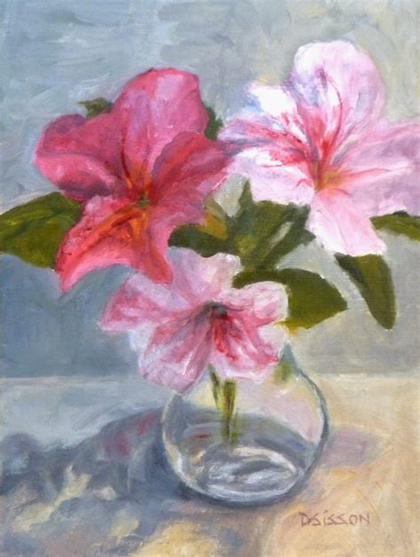 Painting Of Flower Vase by Daily Painting Projects Encore Azaleas Still
