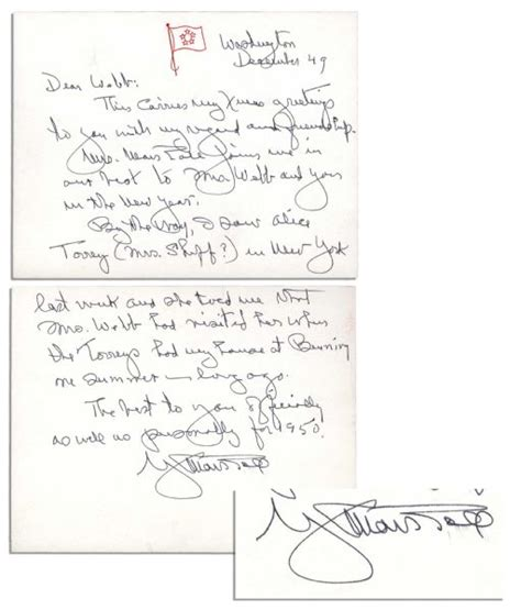 Marshall Acceptance Letter Lot Detail General George Marshall Autograph Letter Signed 1949 Season S Greetings To Nasa