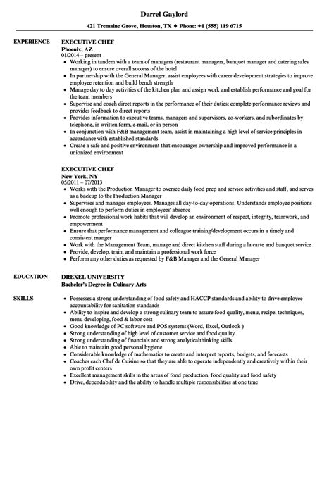 sample resume of a chef mollysherman
