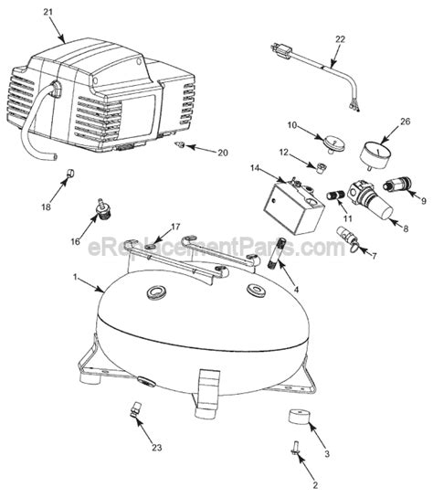 porter cable cpfacp parts list  diagram type