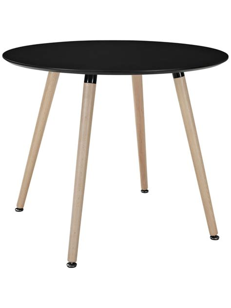 Black Circle Dining Table Ombre Wood Table Modern Furniture Brickell