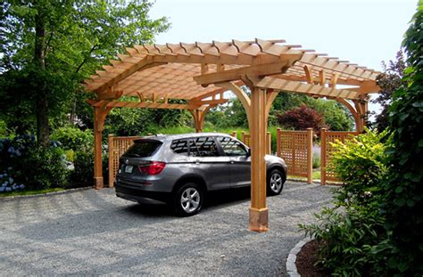 Pergola Style Carport by Large Carport Pergola No Ctp9 By Trellis Structures