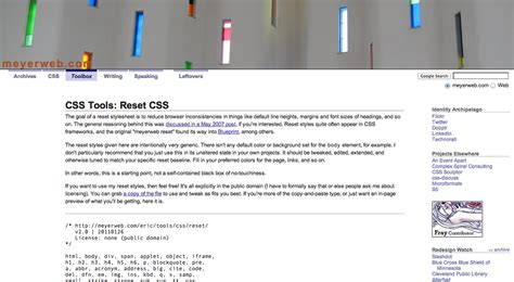 reset css tools essential tools for every web designer webdesigner depot