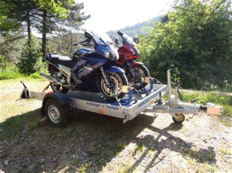 Motorrad Transport Ohne Anh Nger by Verlei Absenk Anh 228 Nger