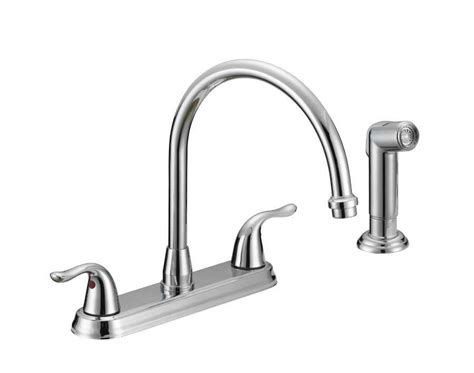 how to change a kitchen faucet with sprayer flo control faucets tq f8f10042cp 2 handle kitchen faucet