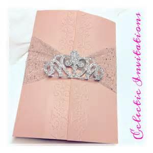 invitations for quinceaneras 50 pink princess invitations quincea 241 era sweet 16 birthday
