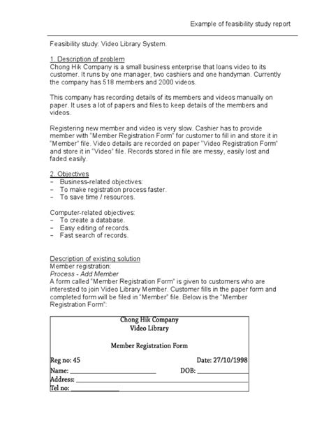 manufacturing feasibility study template best and