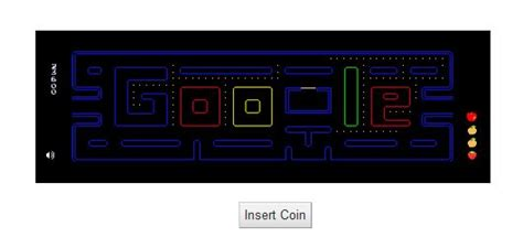play pac doodle homepage may 21 2010 doodle aniversario pacman