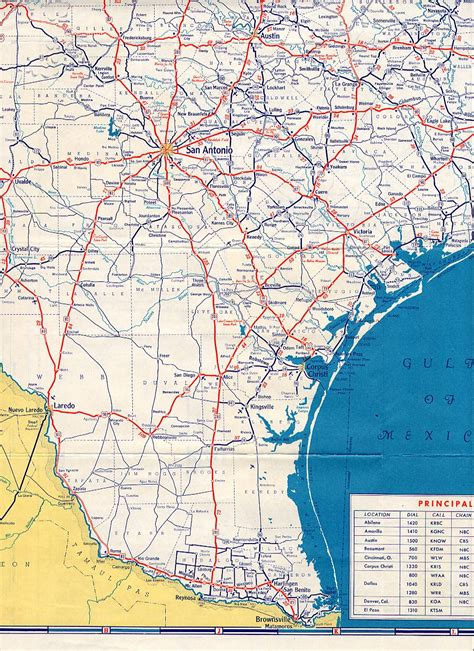 texas highway maps texasfreeway gt statewide gt historic information gt road maps