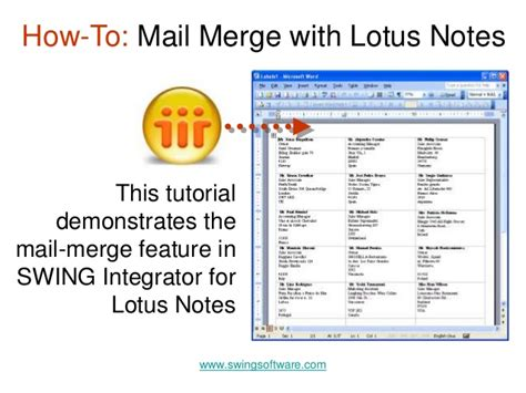 swing notes mail merge with lotus notes