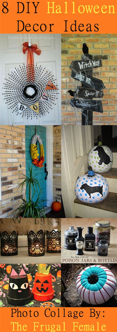 halloween home decor pinterest 8 diy halloween decor ideas the frugal female