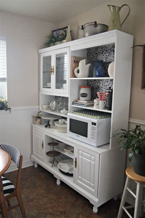 Remodelaholic   Create a Kitchen Hutch From an 80's Wall Unit