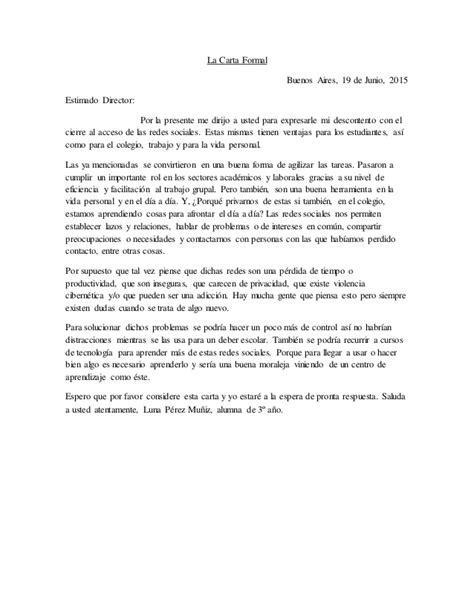 carta formal imagenes la carta formal