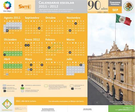 Calendario Escolar Unam 2011 Calendarios Escolares 2011 2012 Escolar Mx