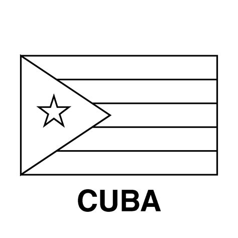 Cuban Flag Coloring Sheet Pictures To Pin On Pinterest Cuba Flag Coloring Page