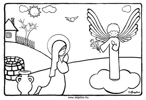 free coloring pages angel and mary free coloring pages of angel gabriel and mary