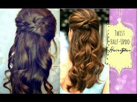 quick and easy hairstyles for graduation cute hairstyles hair tutorial with twist crossed curly