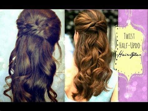 diy hairstyles for wedding dinner cute hairstyles hair tutorial with twist crossed curly