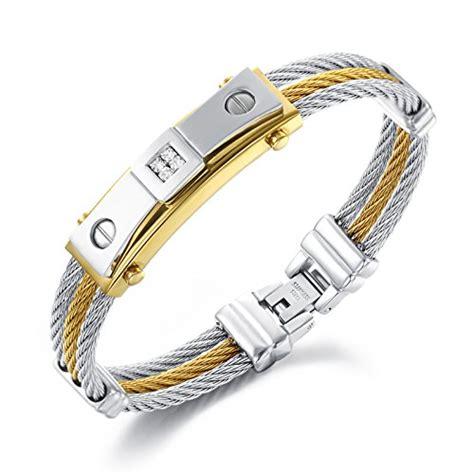 Gelang Gucci Titanium era 4 inside 3 strands rope titanium steel