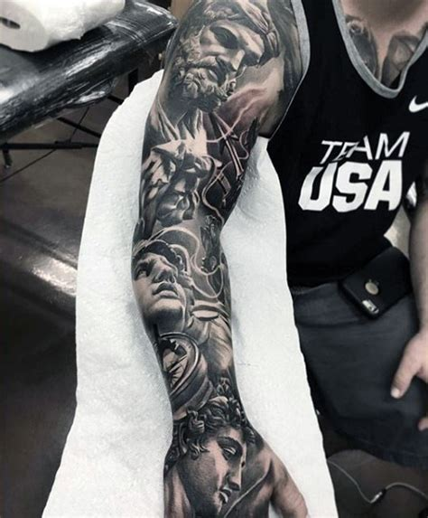 great grey pictures tattoos photos cool grey gods tattoo mens full sleeves things to wear