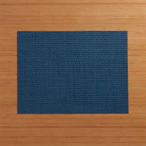 chilewich purl blue vinyl placemat reviews crate