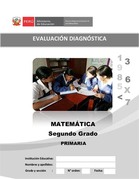 matematica segundo grado esslidesharenet 2 176 grado evaluaci 243 n diagn 243 stica matem 193 tica