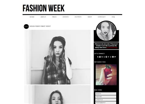 Layout Fashion Blog | newest premade blogger wordpress themes