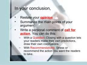 What Is A Call To In An Essay by Argumentative Essay Writing Slides