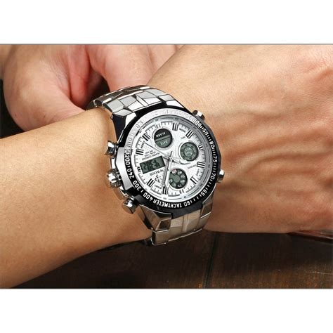 Jam Tangan Pria Black wwoor jam tangan luxury pria 8019 white black