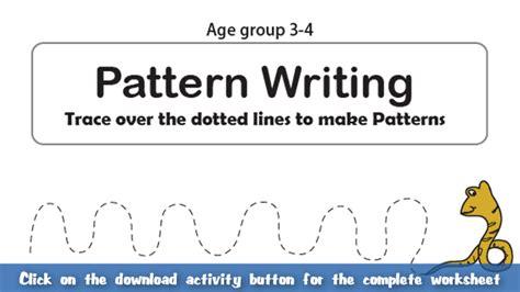 english pattern writing pattern writing part 4 english worksheet for kids mocomi