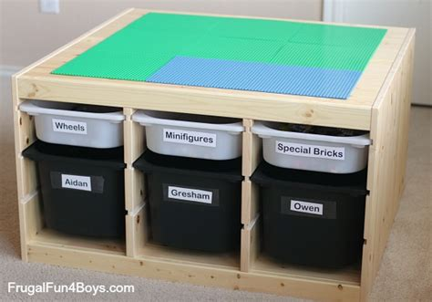 Train Tables With Storage Ikea Hack Lego Table Frugal Fun For Boys And Girls