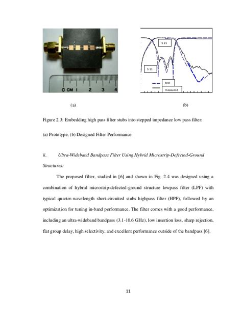 high pass filter design using microstrip design of a microstrip bandpass filter for 3 1 10 6 g hz uwb system