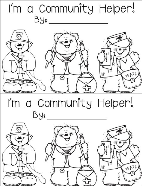 coloring pages community helpers preschool free coloring pages of community helper hats