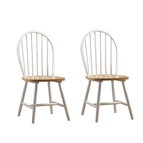 Home Depot Dining Chairs Boraam Farmhouse White Wood Dining Chair Set Of 2 31316 The Home Depot