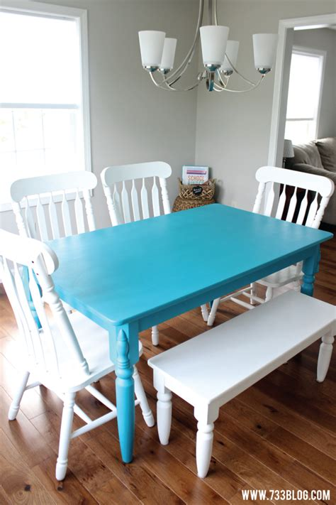 painted dining room table chalky finish paint dining room table makeover