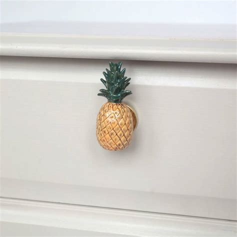 Pineapple Drawer Pulls by Porcelain Pineapple Drawer Pull By And