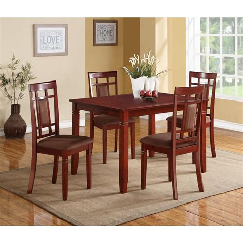 acme sonata 5 cherry dining set 71164 the home depot