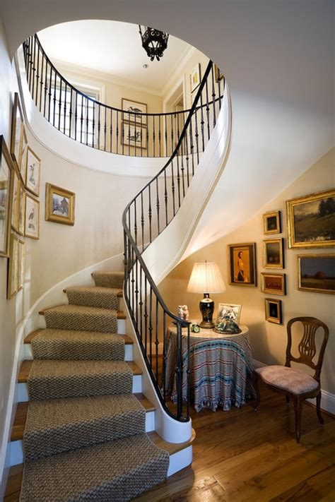 Awesome wrought iron balusters gallery staircase traditional with wood side chair picture