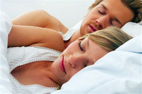 couple sleeping together the surprising cure for your headache chatelaine