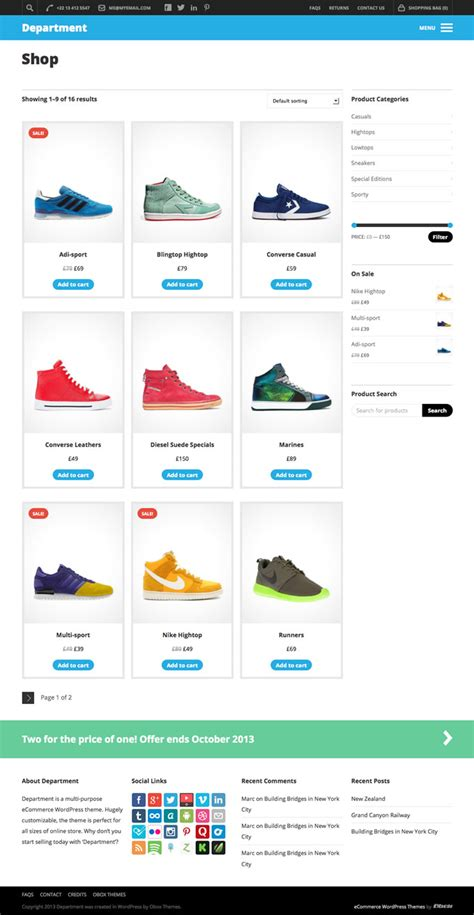 ecommerce wordpress themes obox themes