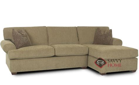 tacoma fabric chaise sectional by savvy is fully