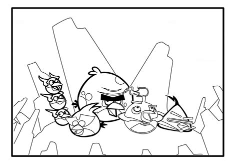angry birds space best coloring pages free coloring