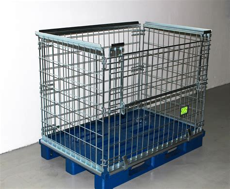 matratze lagern metal cage with plastic pallet