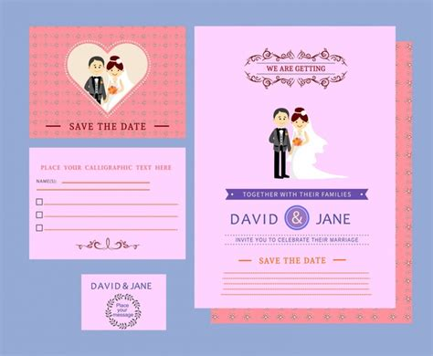 free card design templates wedding card templates design on colored background