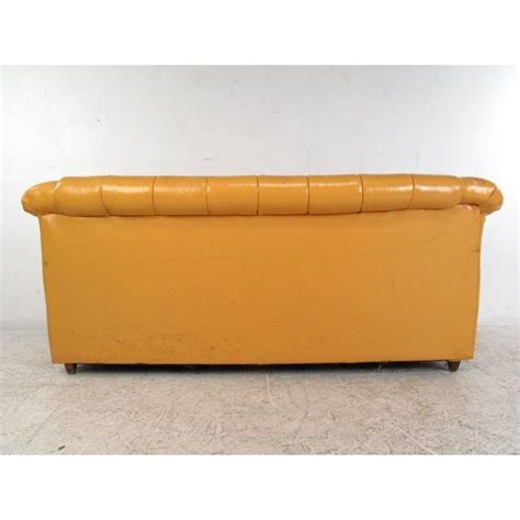 chesterfield sofa mid century modern mid century modern tufted chesterfield sofa chairish